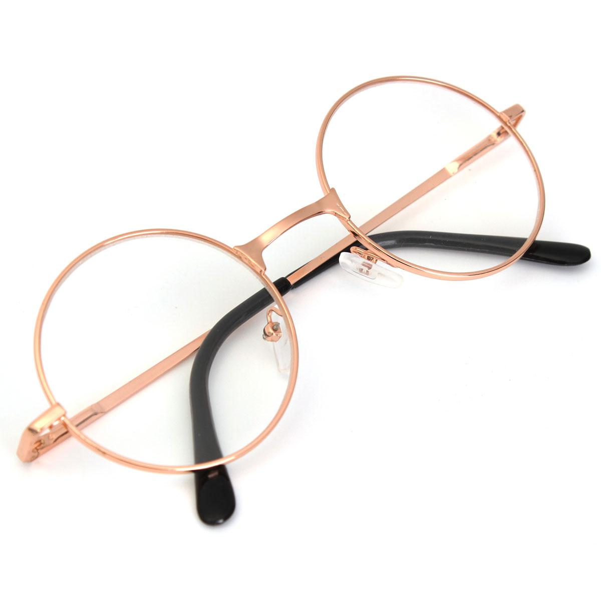 Vintage Round Oval Metal Rim Frame Reading Glasses Reader ...