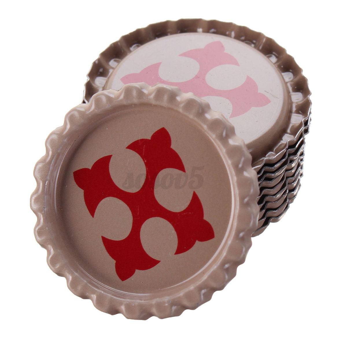 10 50 colourful flat beer bottle cap craft diy circle for Diy bottle cap crafts