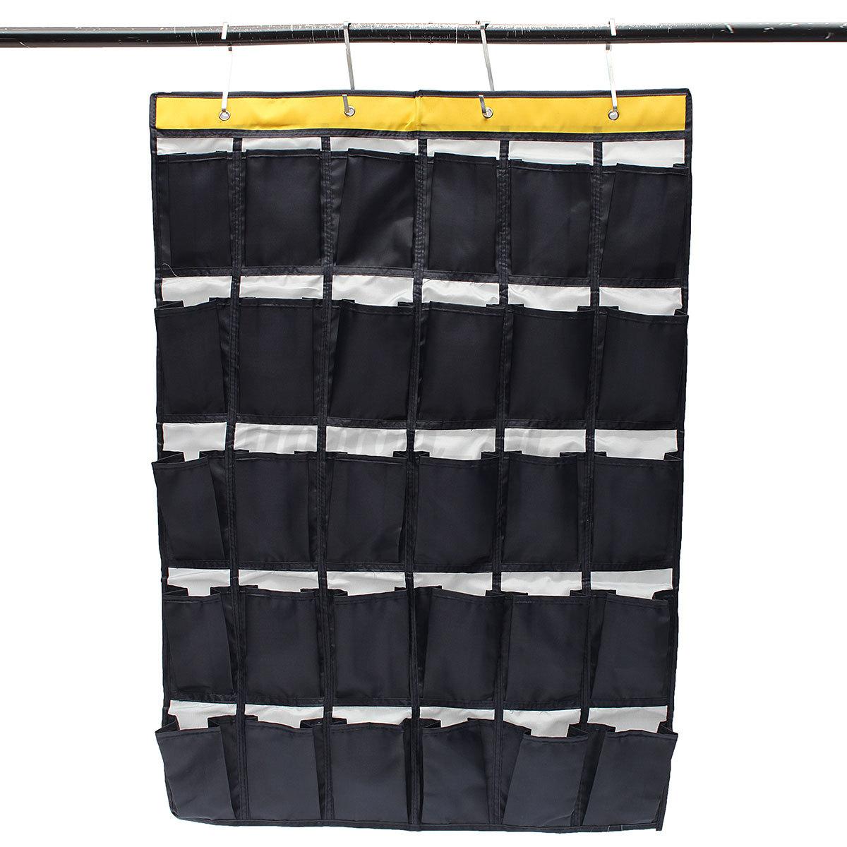 30 poche de rangement suspendre sac mural organisateur chaussures range pliable ebay. Black Bedroom Furniture Sets. Home Design Ideas