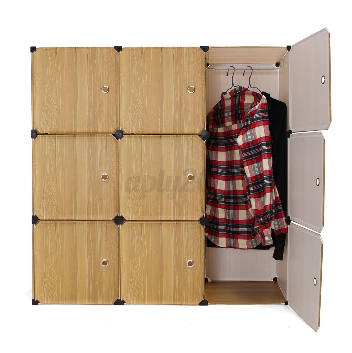 Diy portable closet storage organizer clothes wardrobe for Diy clothes closet
