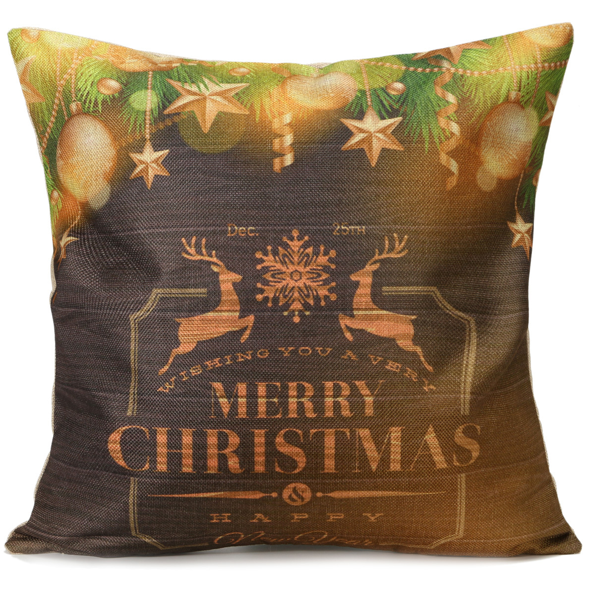Christmas Decorative Pillow Cases : Christmas Series Cushion Cover Merry Xmas Decorative Square Pillow Case Throw eBay
