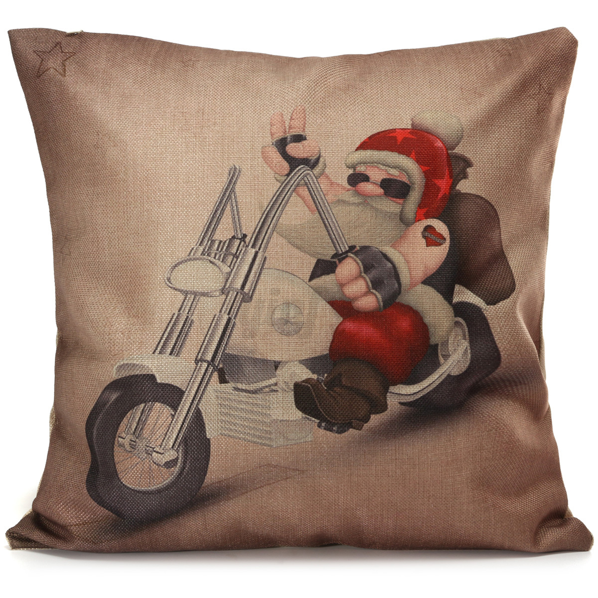 Christmas Decorative Pillow Cases : Cotton Linen XMAS Christmas Cushion Cover Decorative Square Pillow Case Car eBay
