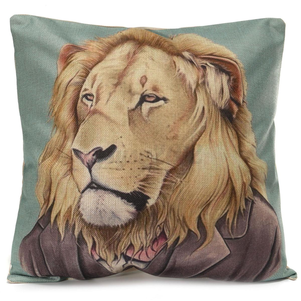 Animal CAT DOG Koala Penguin Tiger Cushion Cover Home CAR Decor Pillow Case NEW eBay