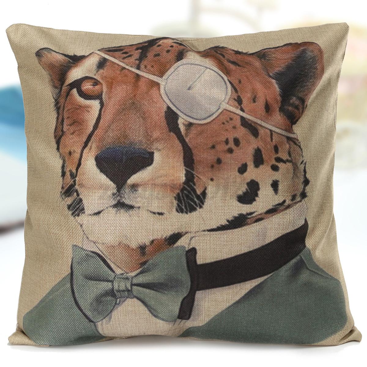 Doomagic Animal Pillow Case : Animal CAT DOG Koala Penguin Tiger Cushion Cover Home CAR Decor Pillow Case NEW eBay