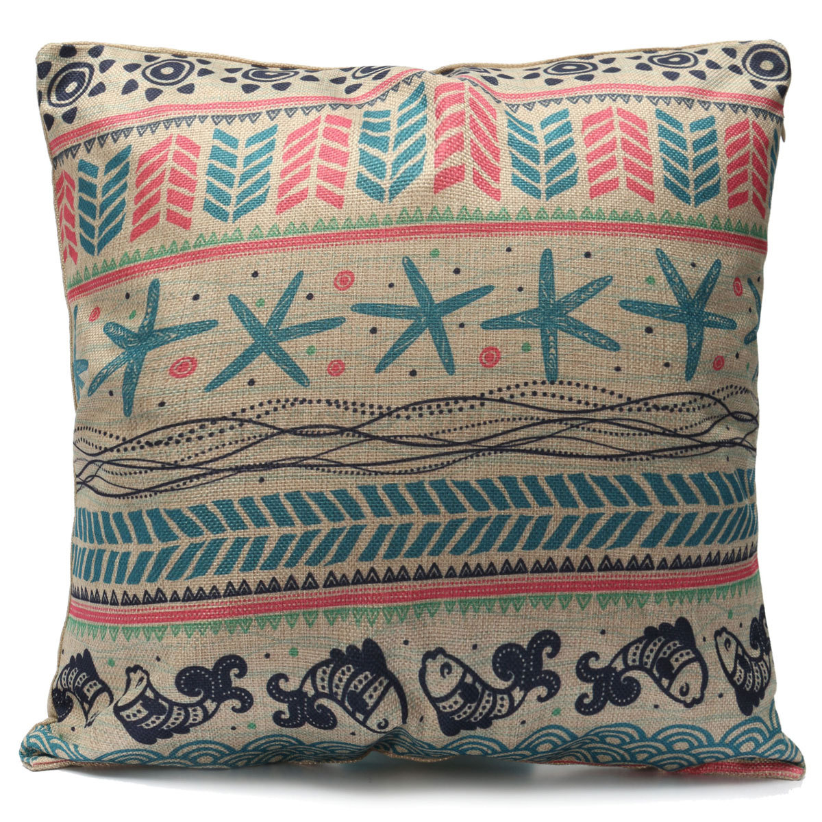 Vintage colorful geometry bohemian pillow case cushion for Decor pillows