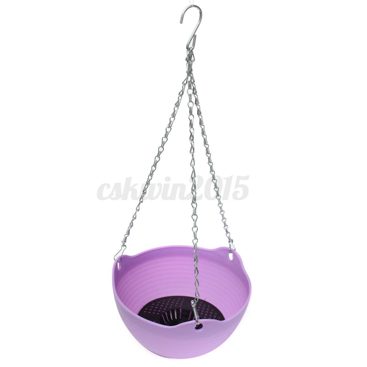 blumentopf blumenk bel h ngetopf pflanztopf bertopf balkon h ngen kunststoff ebay. Black Bedroom Furniture Sets. Home Design Ideas