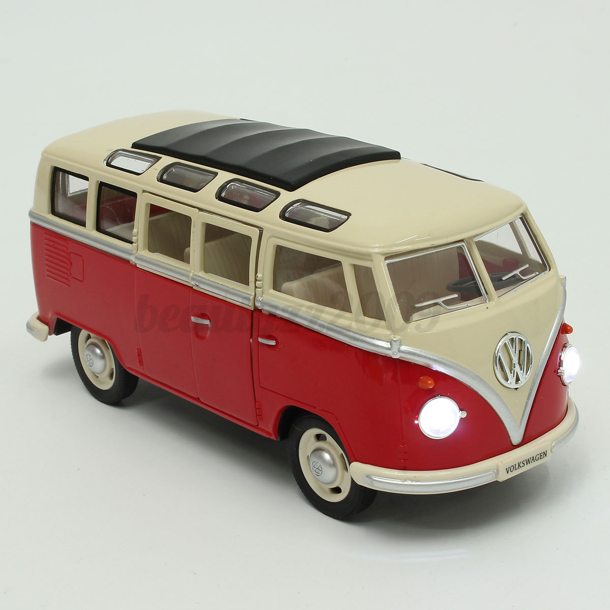 maisto volkswagen vw 1960s van samba bus 1 24 scale 7. Black Bedroom Furniture Sets. Home Design Ideas