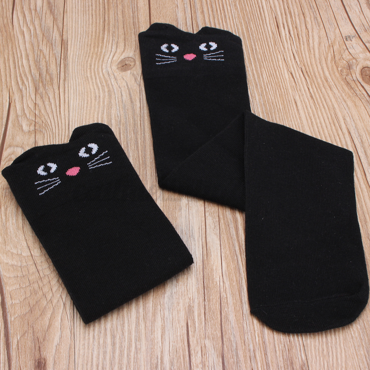 chaussettes enfant fille jambi res gu tre chat panda genou hautes bas collant ebay. Black Bedroom Furniture Sets. Home Design Ideas
