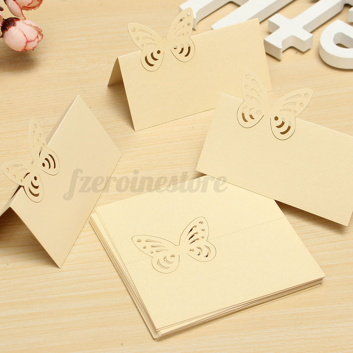 25x butterfly wedding birthday party meeting meal table for Table place cards