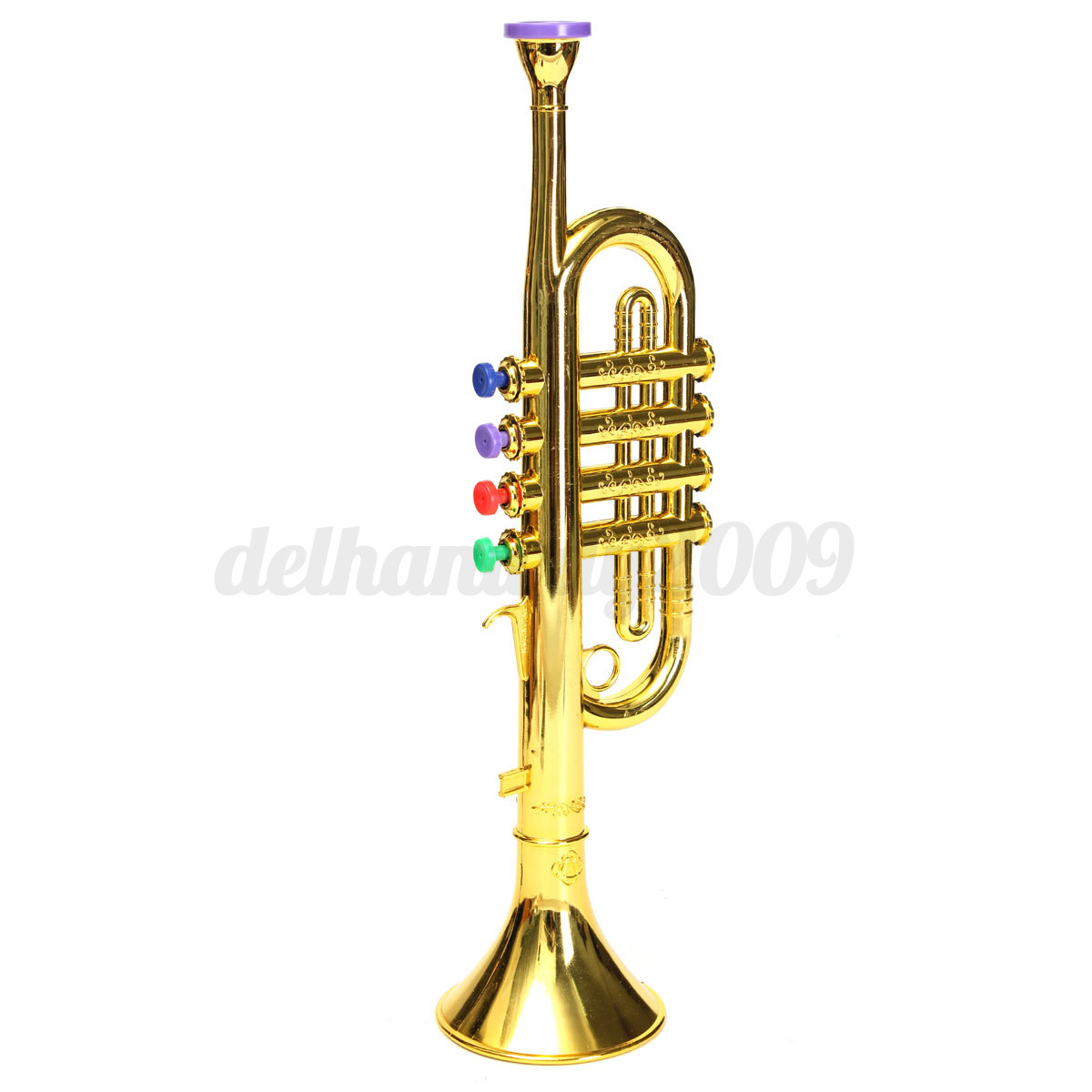 Toy Musical Horns : Golden trumpet horn musical instrument gift simulation toy