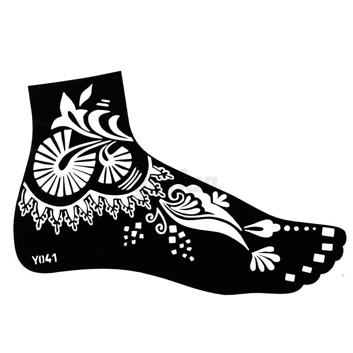 India mehndi henna foot stencil sticker temporary tattoo for Henna temporary tattoo stencils