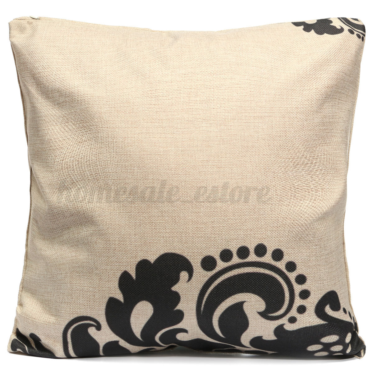 White Linen Throw Pillow : Vintage Black & White Cotton Linen Cushion Cover Throw Pillow Case Home Decor eBay