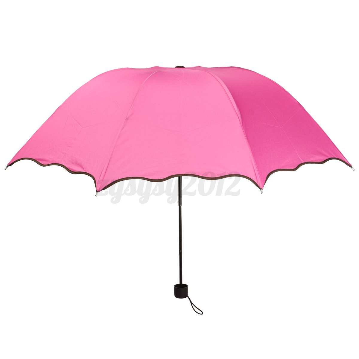 anti uv women flouncing dome parasol foldable sun rain color changing umbrella ebay. Black Bedroom Furniture Sets. Home Design Ideas