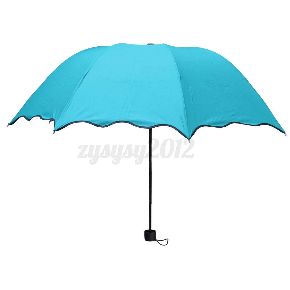 anti uv women flouncing dome parasol foldable sun rain. Black Bedroom Furniture Sets. Home Design Ideas