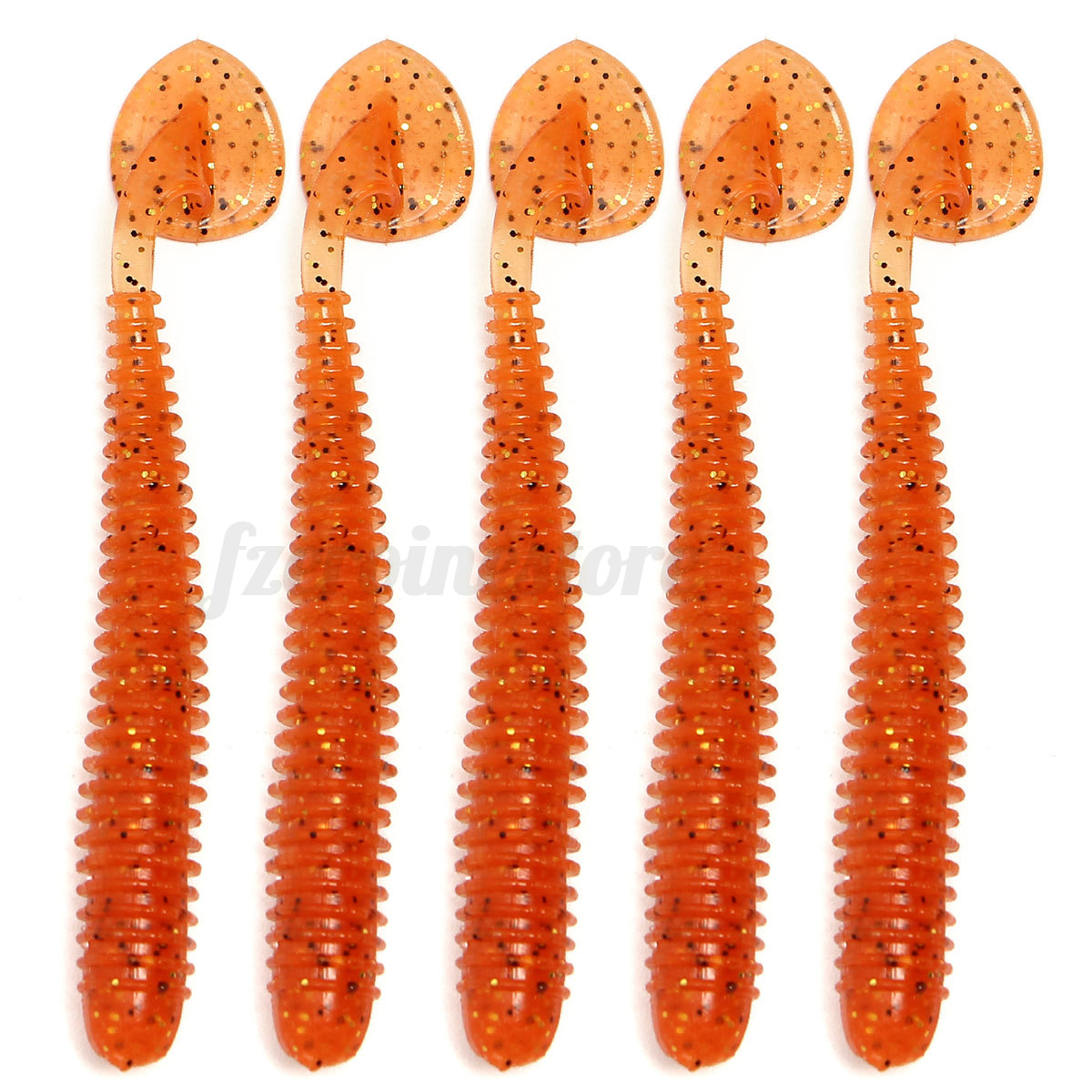 5 pcs plastic soft lure bait fishing fish bass maggots for Worms for fishing bait