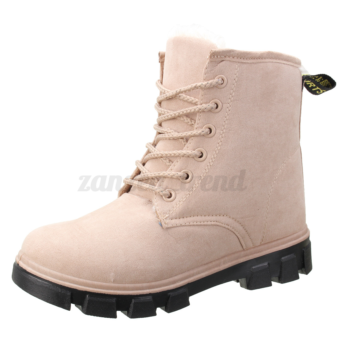 womens lace up winter warm snow ankle boots fur