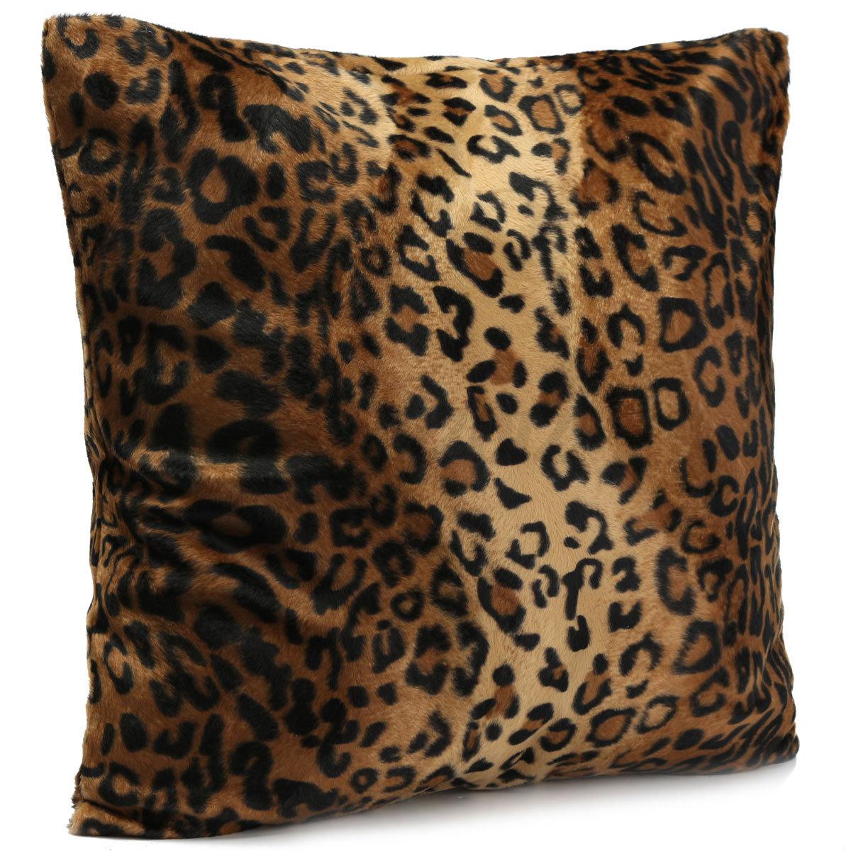 animal zebra leopard print pillow case sofa waist throw