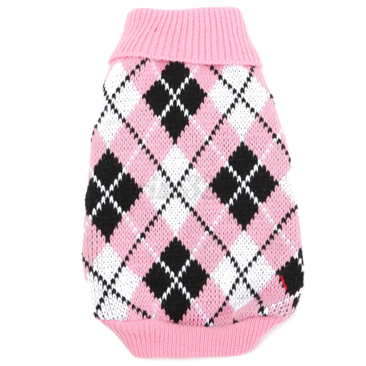 Cat Puppy Pet Dog Plaid Sweater Coat Costume Apparel Warm ...