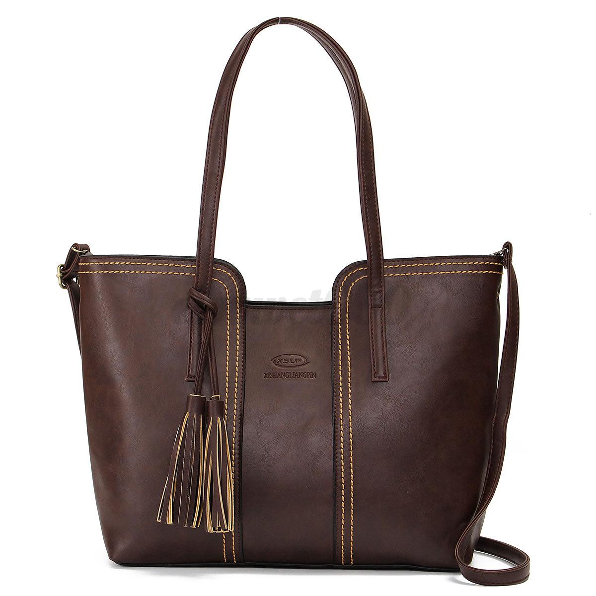 New Women Ladies Handbag Shoulder Bag Tote Purse Leather Women Messenger Bags