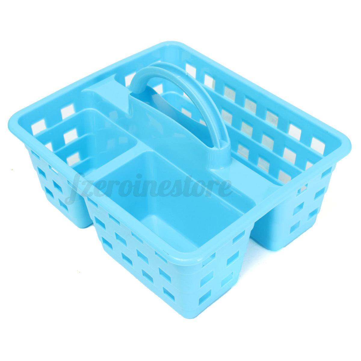PRO Plastic Storage Basket & Handle Cleaning Caddy Bathroom Kitchen ...