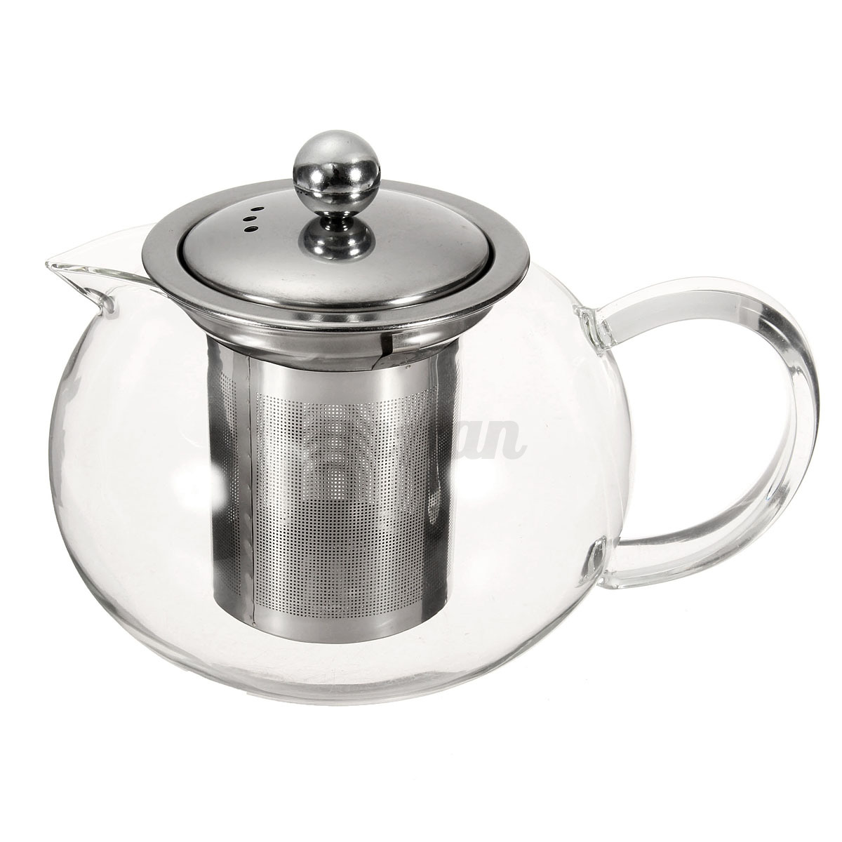 Ml clear glass infusion teapot stainless steel