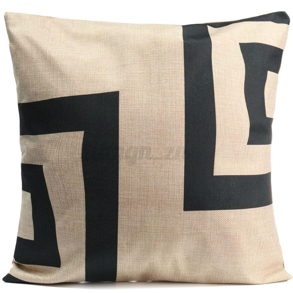 g om trie housse de coussin taie d 39 oreiller voiture canap maison cushion cover ebay. Black Bedroom Furniture Sets. Home Design Ideas