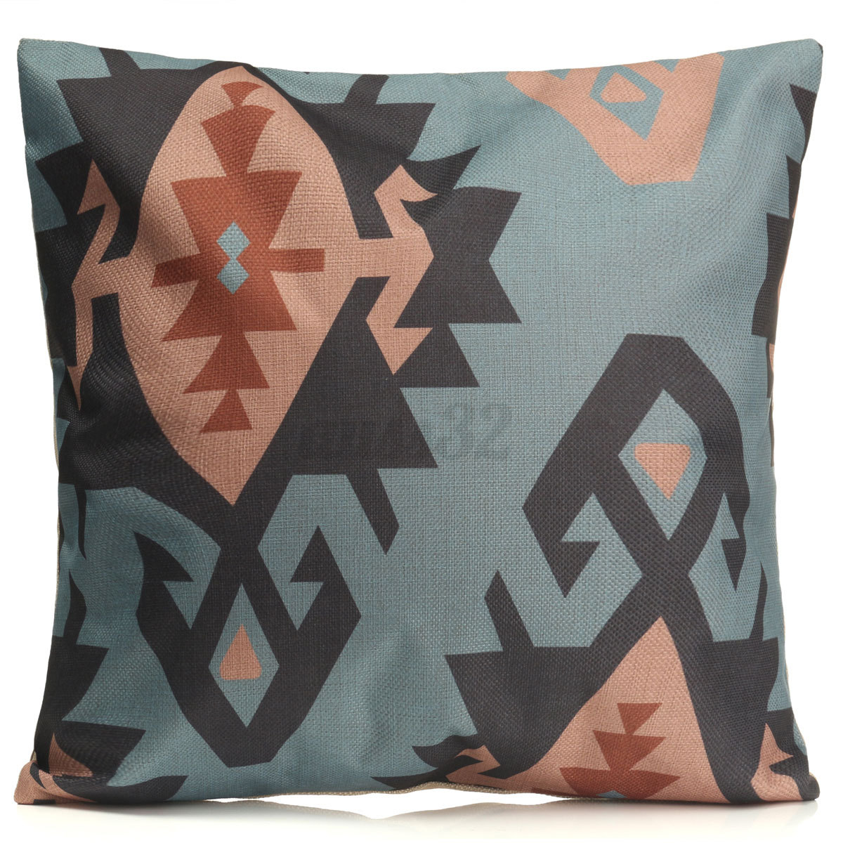 Xmas Geometric Flower Cotton Linen Pillow Case Throw Cushion Cover Home Decor eBay