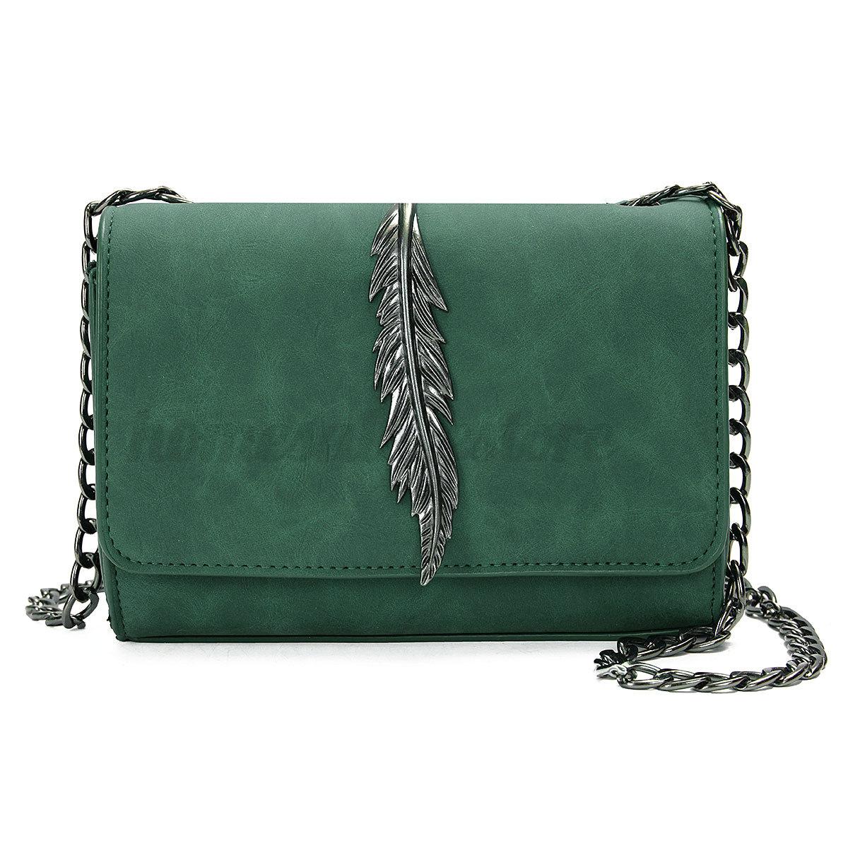Fashion-Women-Shoulder-Bag-Tote-Messenger-Leaf-Leather-Crossbody-Satchel-Handbag
