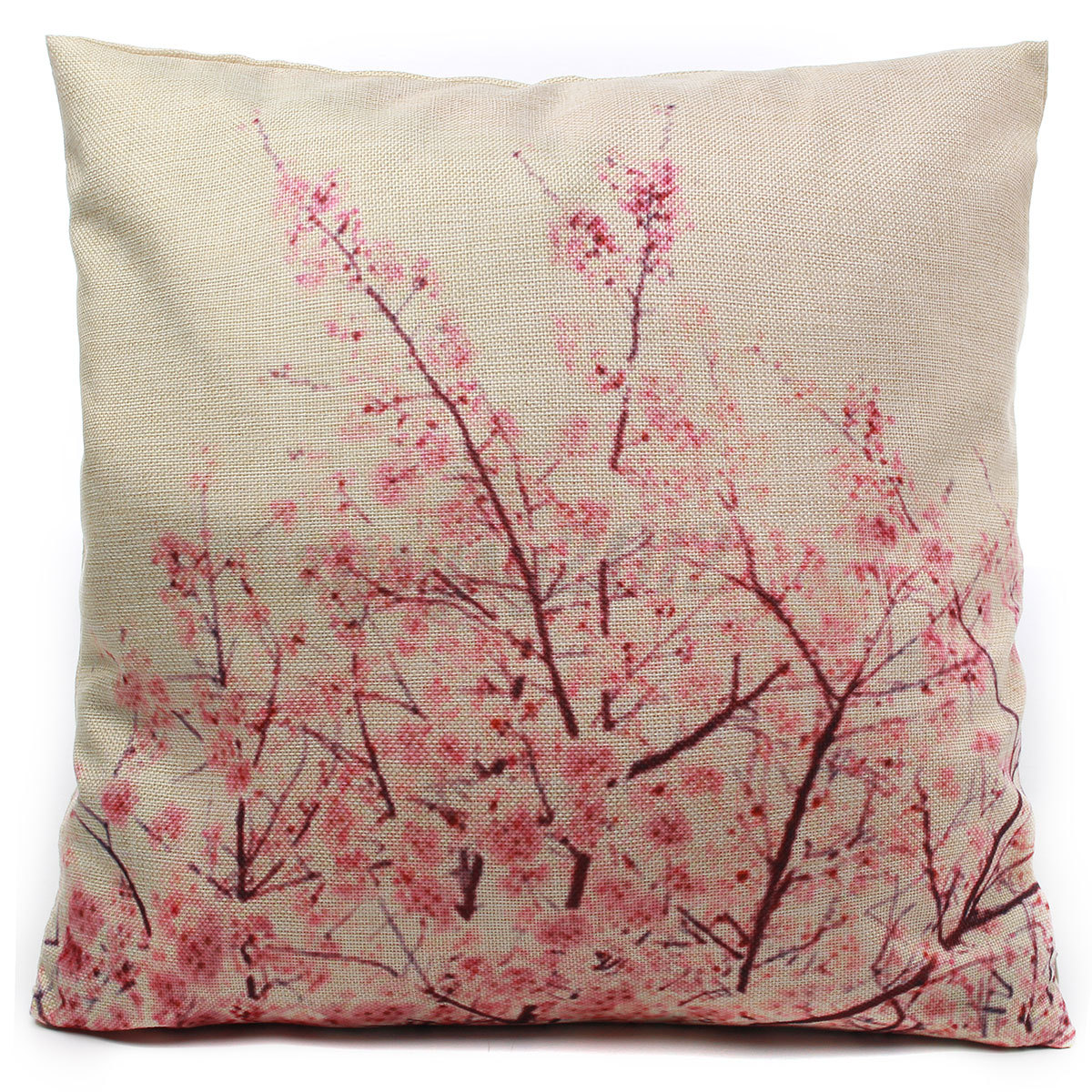 Cotton Linen Leaf Throw Pillow Case Cover Bed Sofa Pack Cushion Home Decor eBay