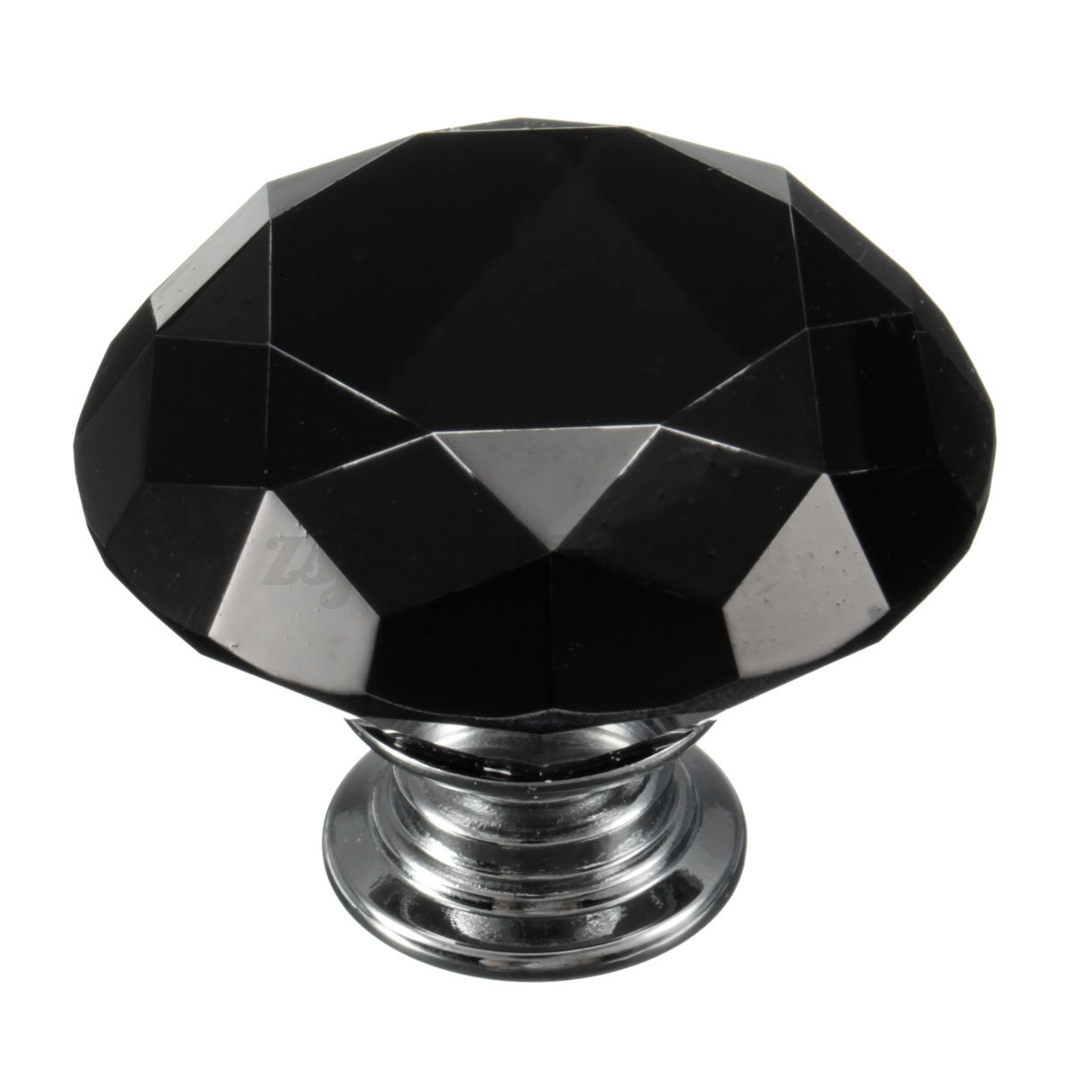 Glass Kitchen Cabinet Door Knobs: 5x 40mm Diamond Shape Crystal Glass Pull Handle Kitchen