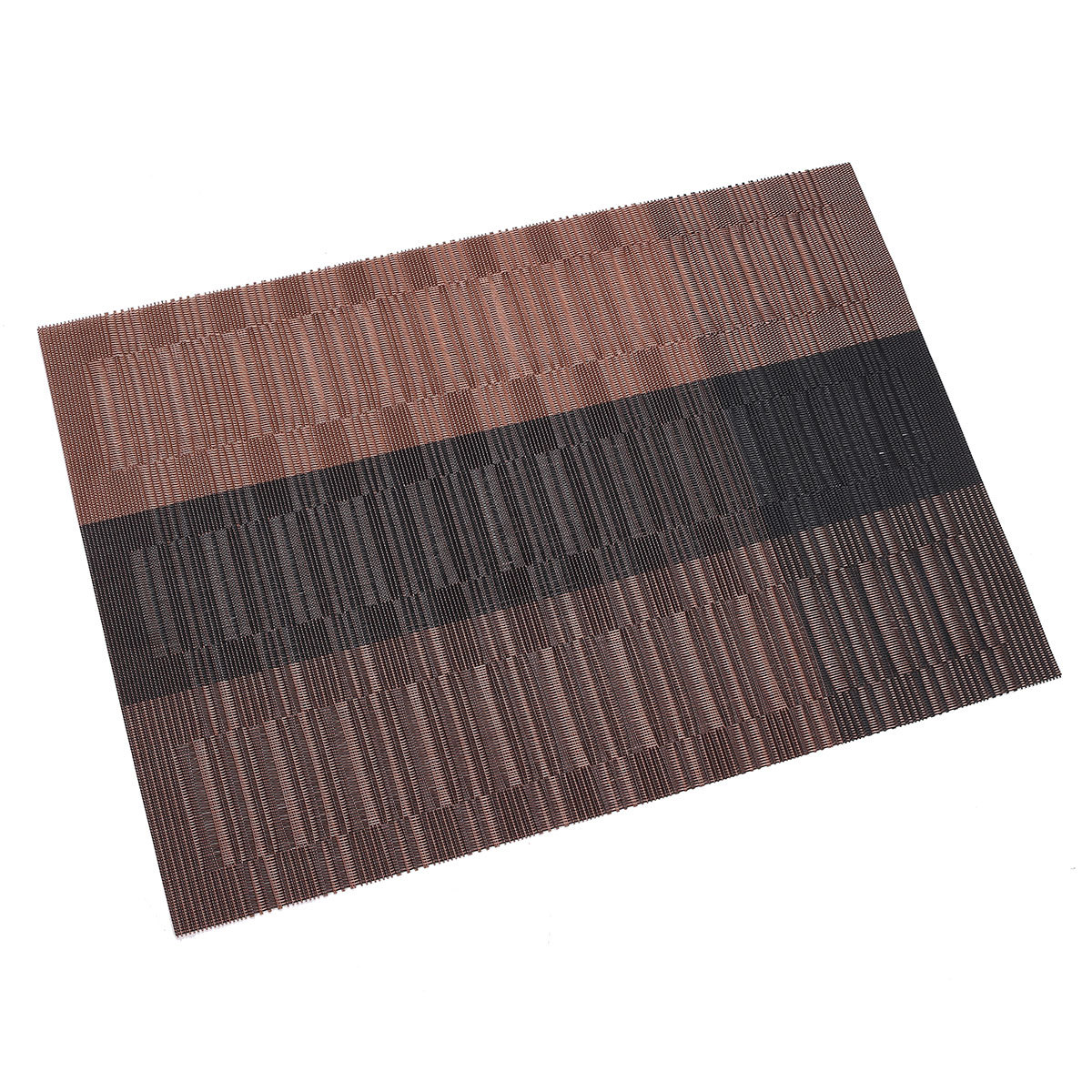 set of 4 vinyl dining table place mats placemats pad weave woven effect modern ebay. Black Bedroom Furniture Sets. Home Design Ideas