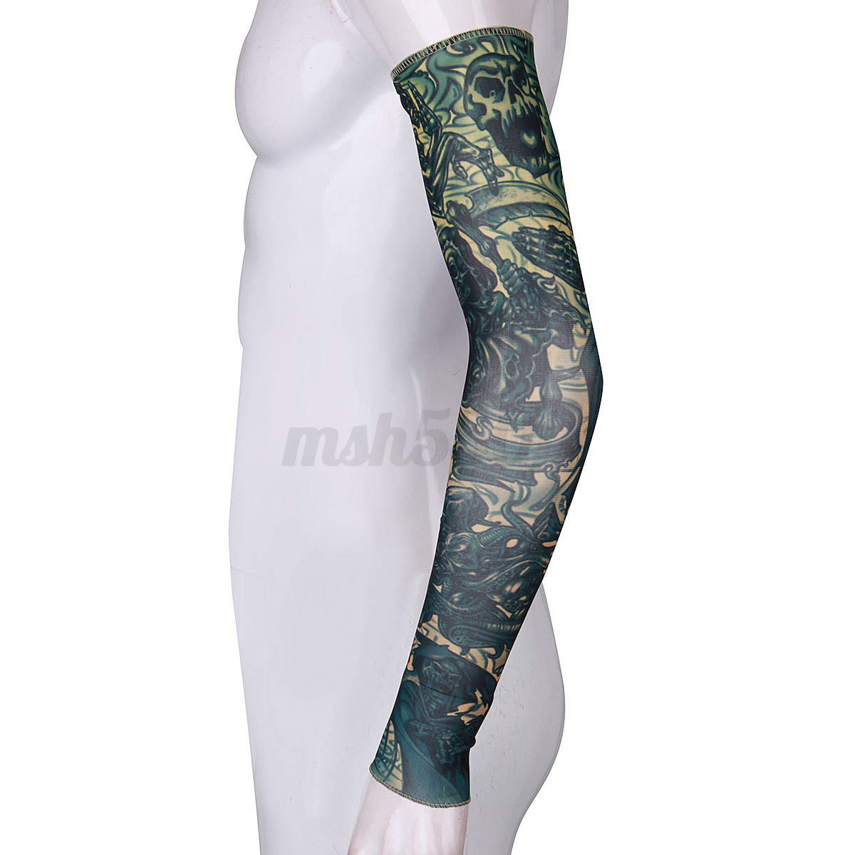 1 3 5x nylon spandex stretchy temporary tattoo sleeves arm for Fake tattoo sleeves toronto