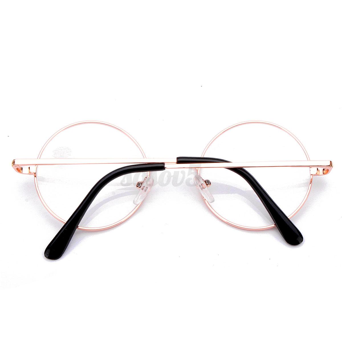 Understanding Eyeglass Frame Measurements : Unisex Retro Round Reading Glasses Presbyopic Metal Frame ...