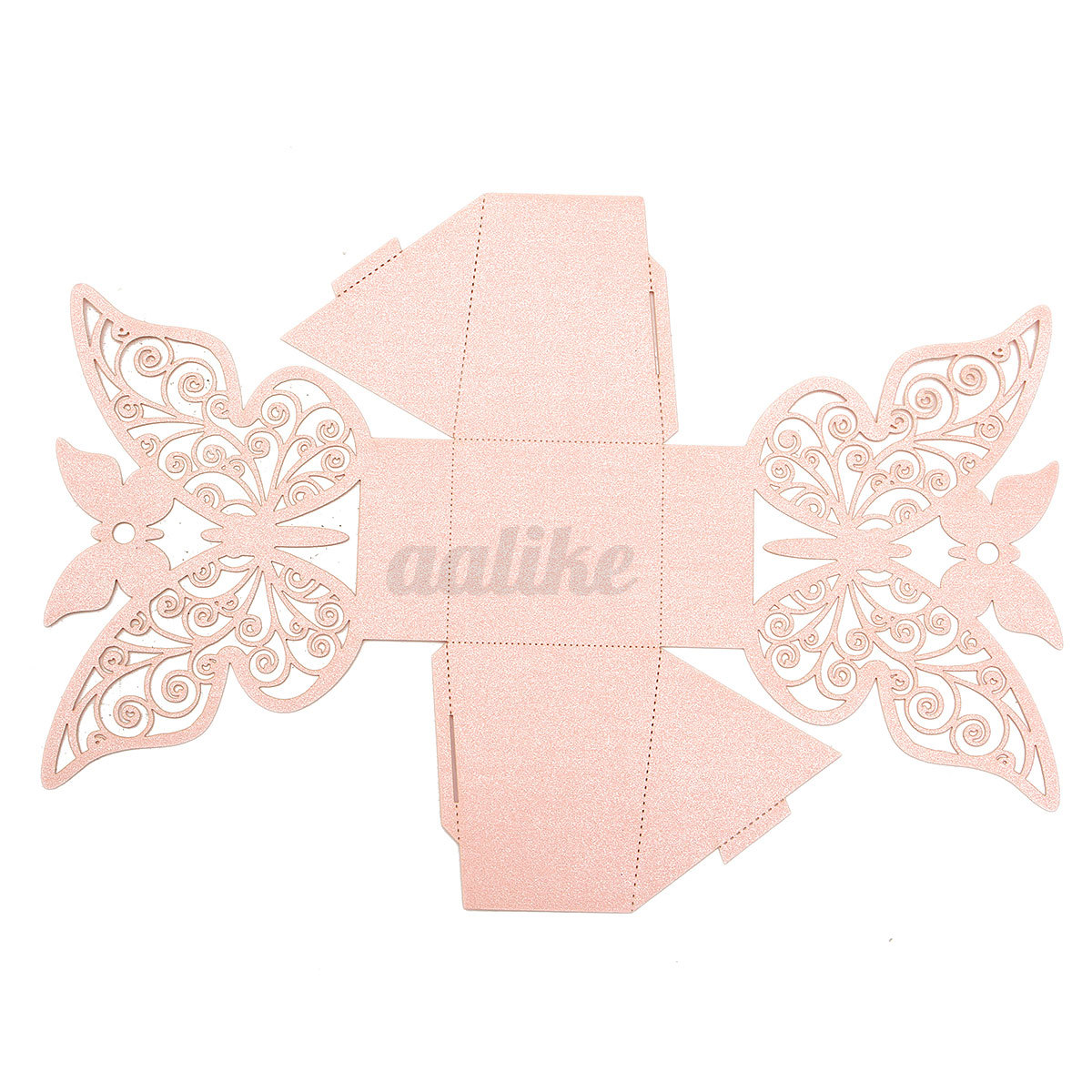 10 50 100X Paper Butterfly Wedding Cake Candy Box Party
