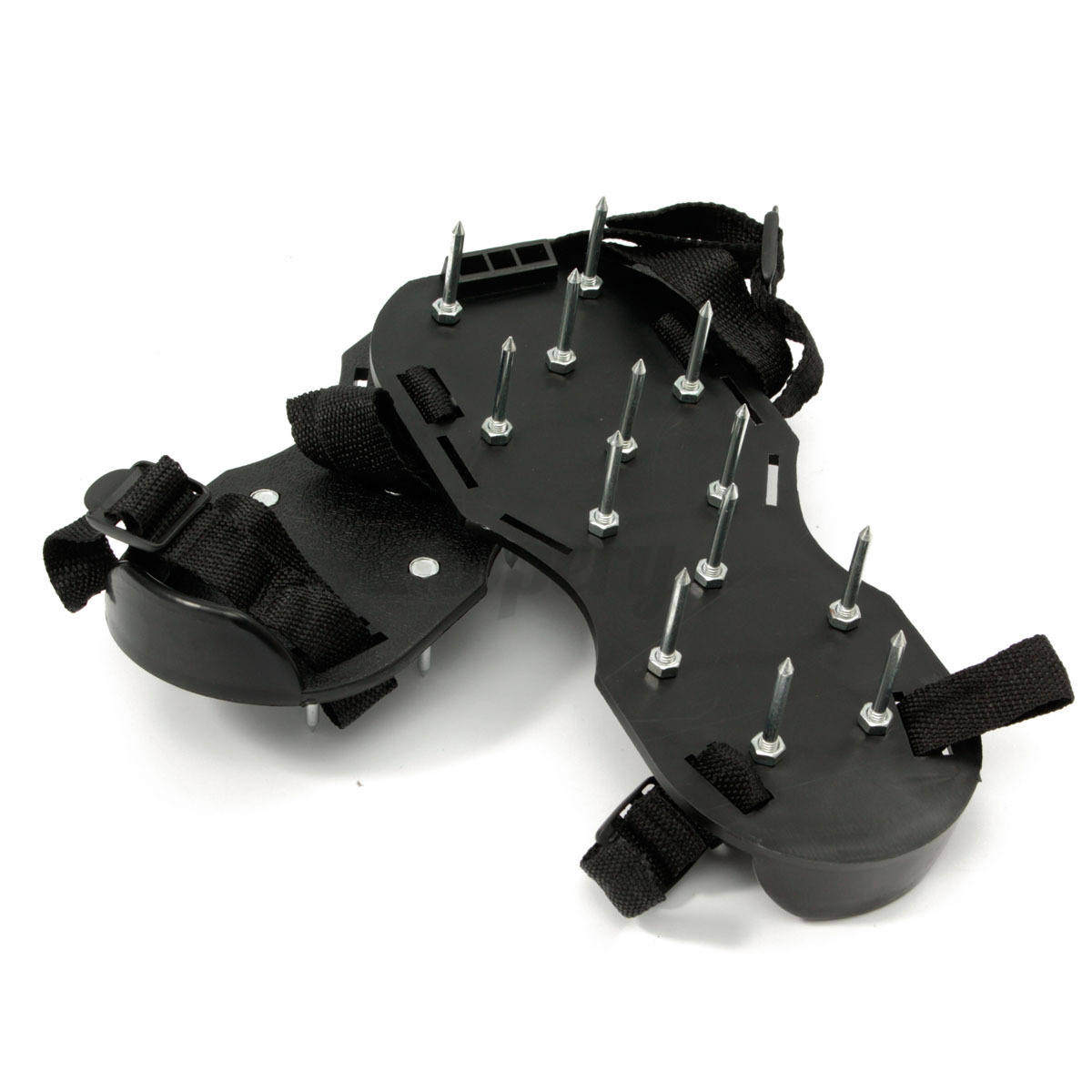 Lawn grass sod walking aerator spike strap shoes sandal for Garden tool with spikes