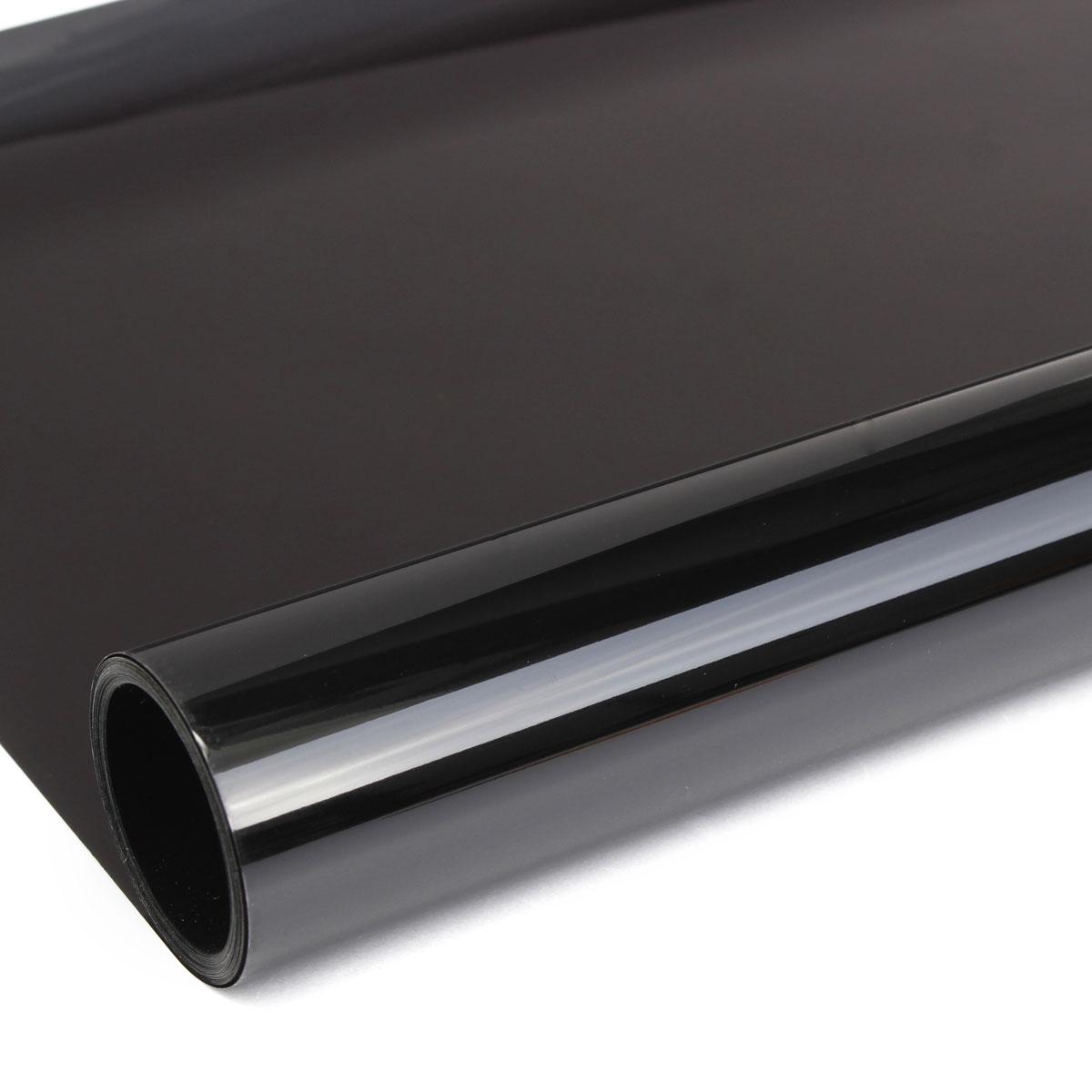 6mx50cm film teinte solaire noir autocollant vitre fen tre for Film solaire fenetre