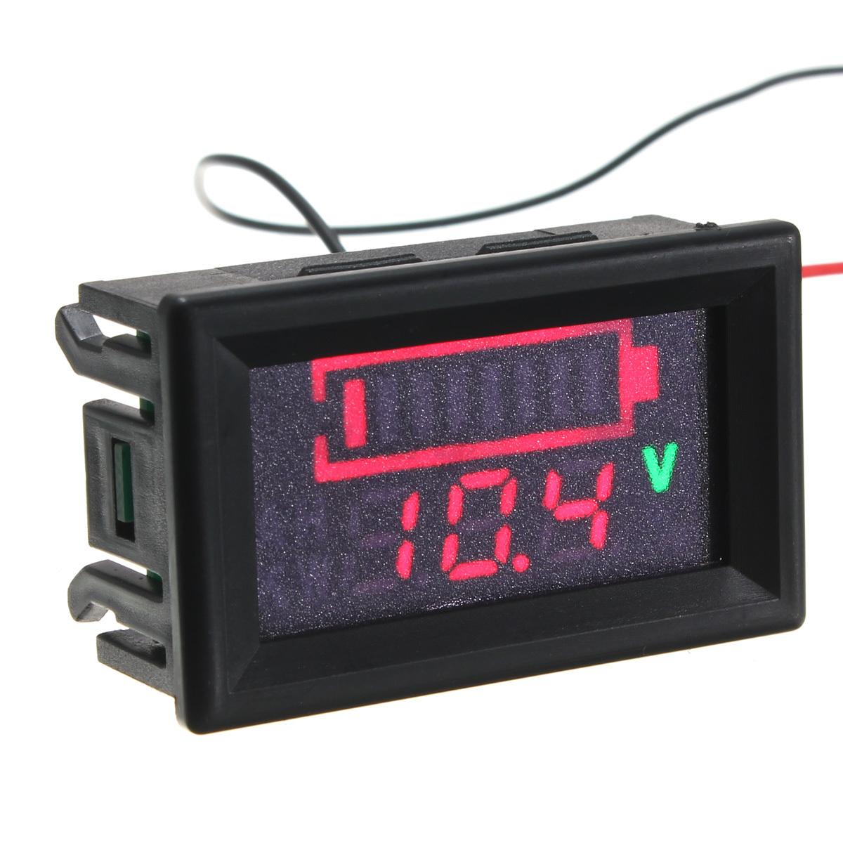 12v Battery Meter : V battery capacity voltage volt meter lead acid digital