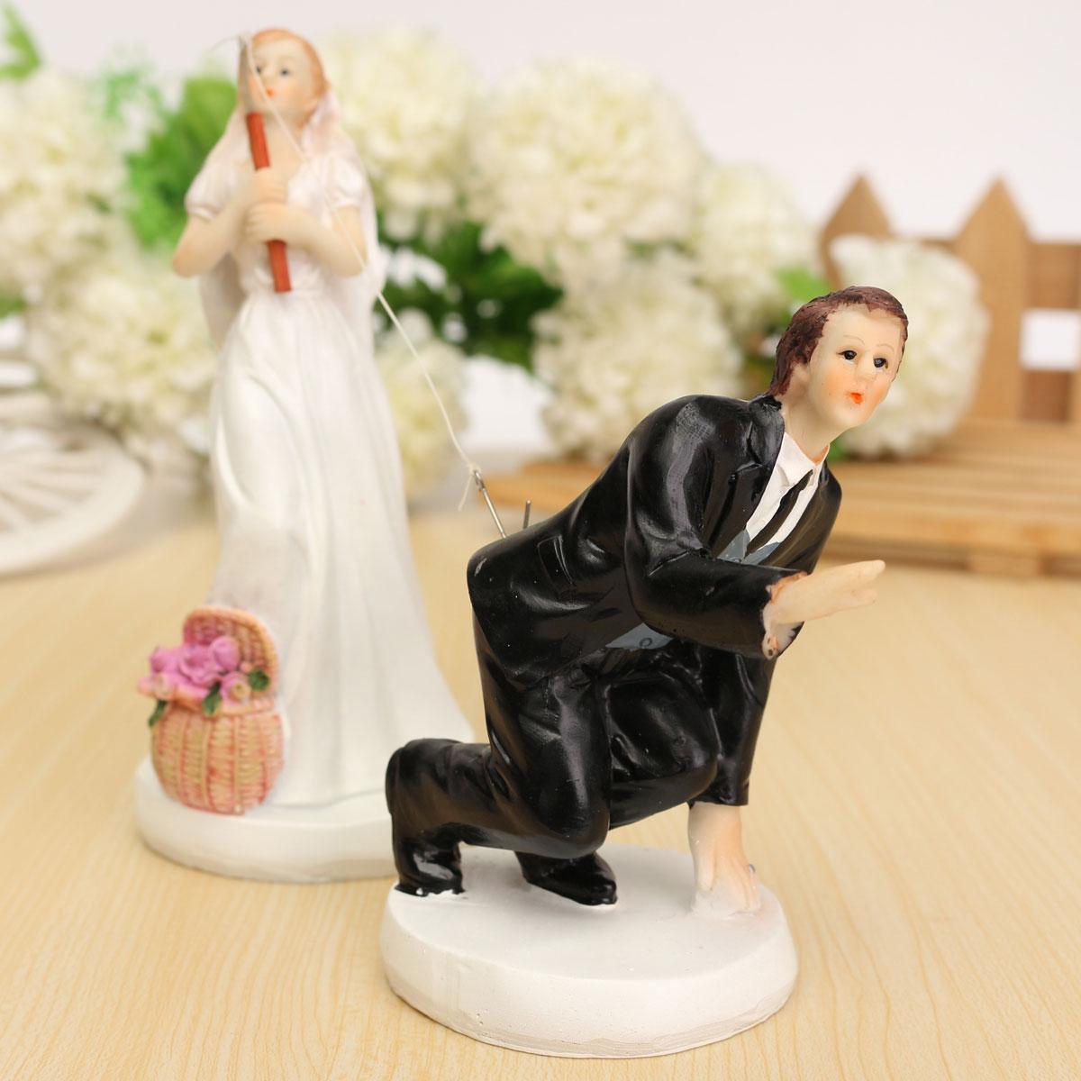 Bride And Groom Only Wedding Ideas: Bride Groom Resin Wedding Cake Topper Couple Figurine