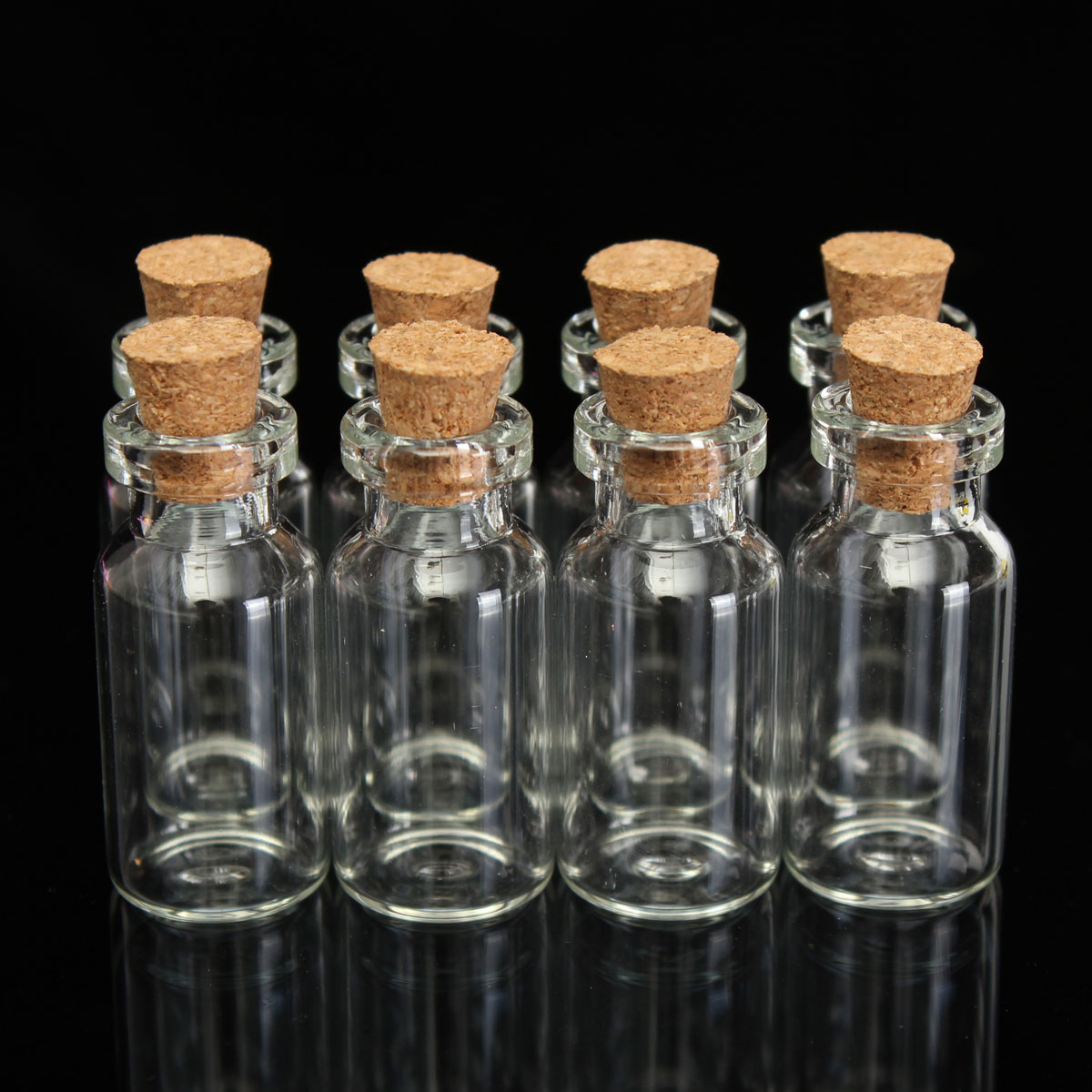 5 10 20 50 2ml 16x35mm small tiny empty clear glass bottle for Colored glass bottles with corks