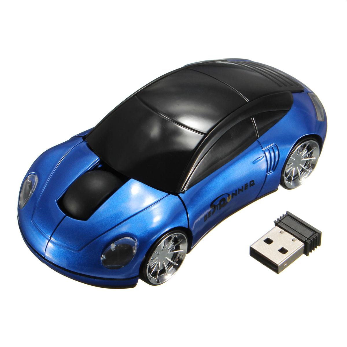 bestrunner 2 4ghz wireless usb optical car mouse mice. Black Bedroom Furniture Sets. Home Design Ideas