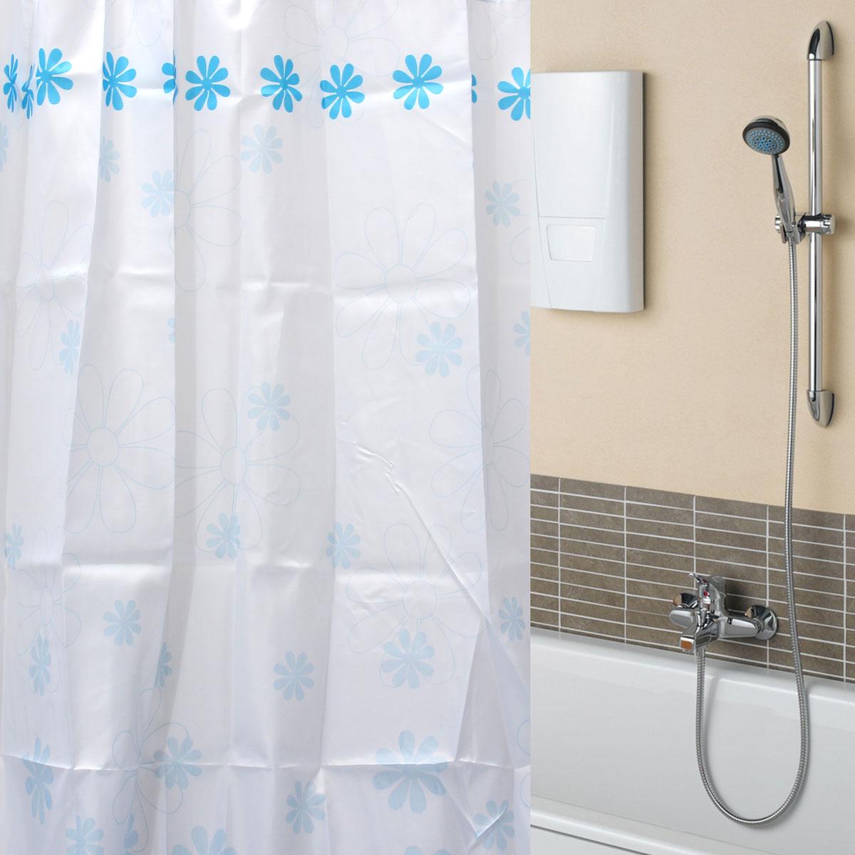 170 180cmx180cm tende tendina da doccia 8 10 12 ganci vasca bagno shower curtain ebay - Tende da doccia ...