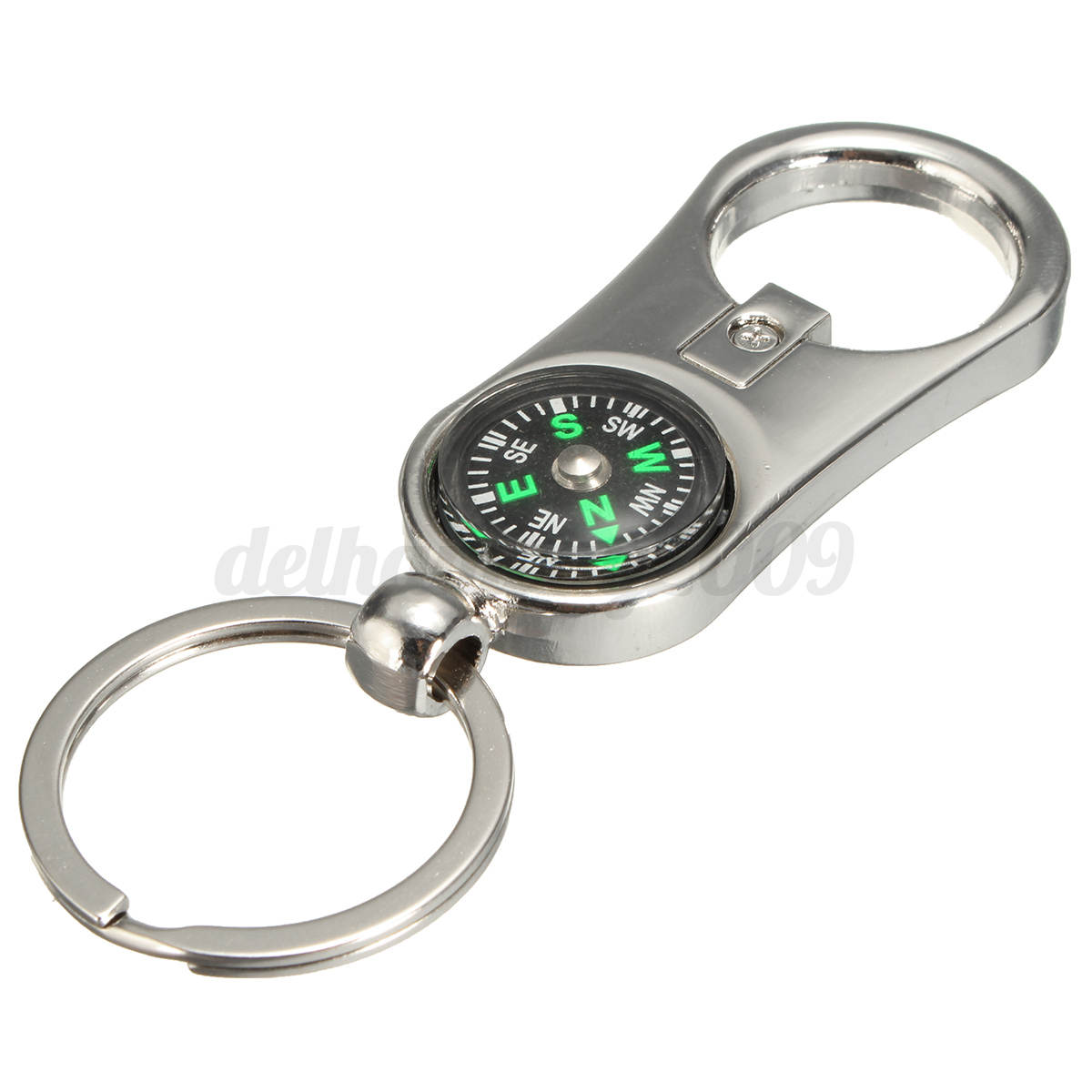 multifunctiona 3d keyring compass bottle beer opener keychain ring keyfob metal. Black Bedroom Furniture Sets. Home Design Ideas