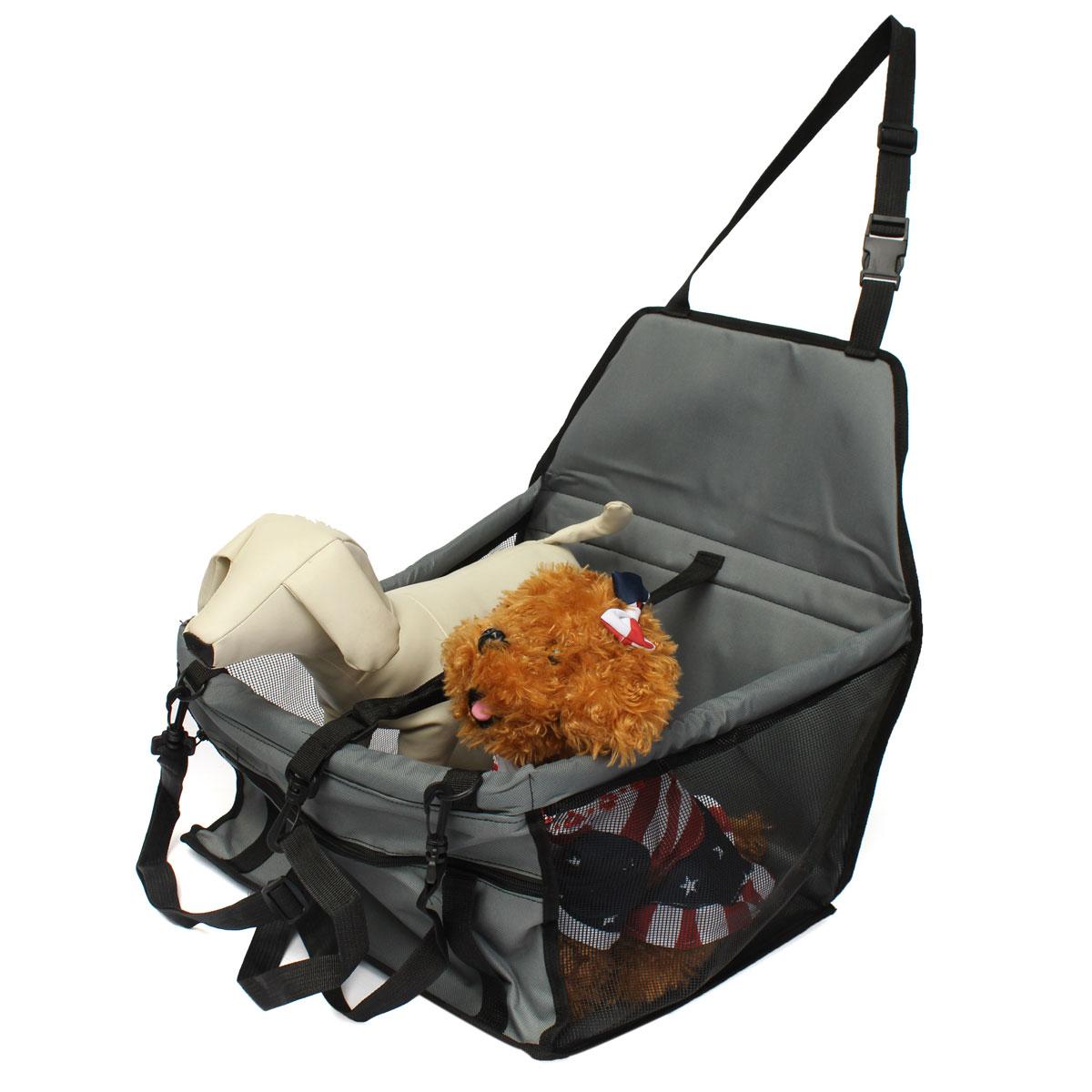 folding pet dog cat puppy car seat safety belt cover booster travel carrier bag ebay. Black Bedroom Furniture Sets. Home Design Ideas