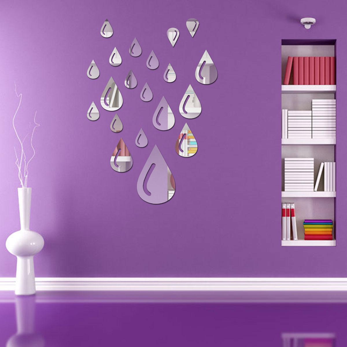 Modern 3D Acrylic Mirror Wall Home Decal Mural Decoration Vinyl Art DIY Stickers