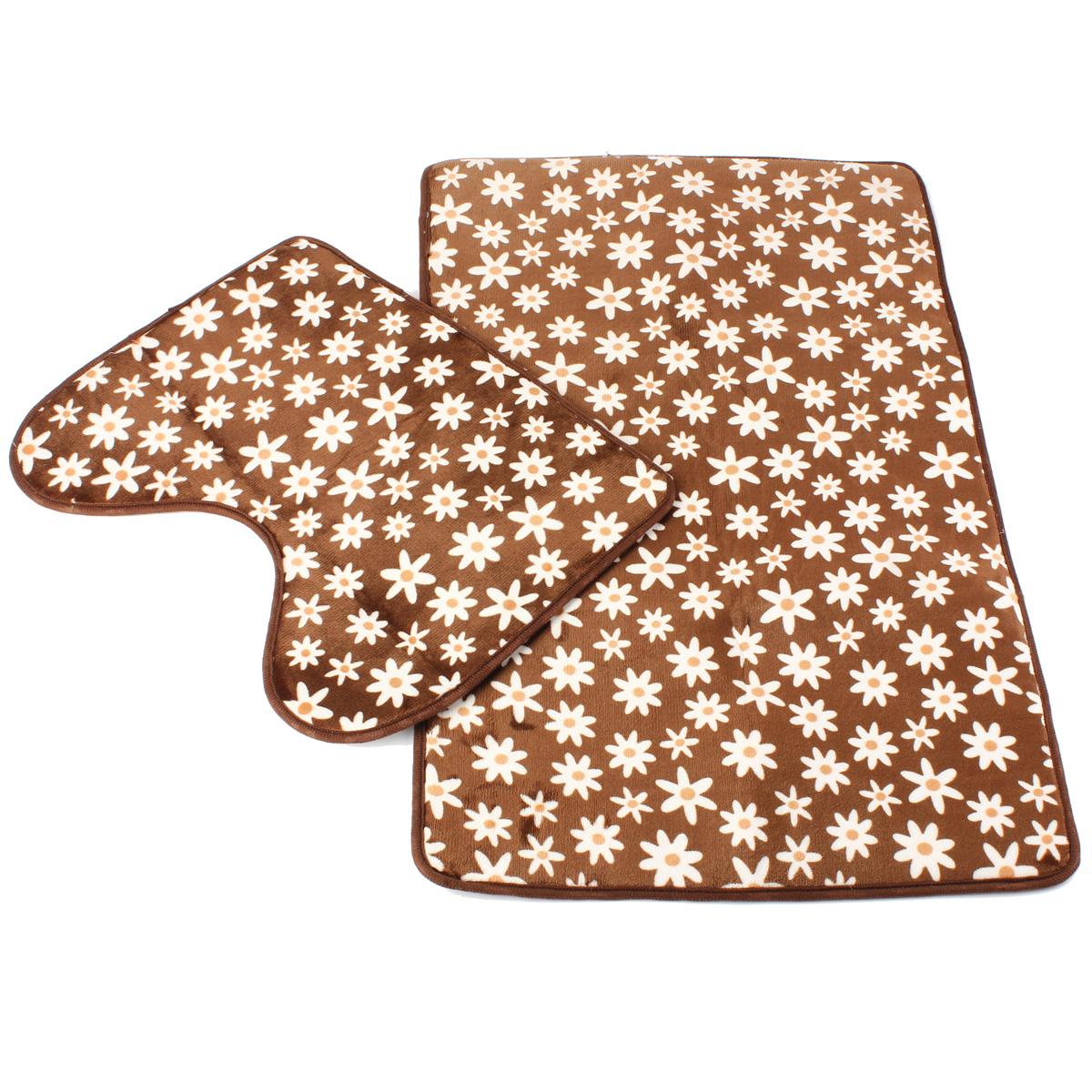 Set de toilette moquette anti d rapant tapis de bain avec for Bain de pied maison corne