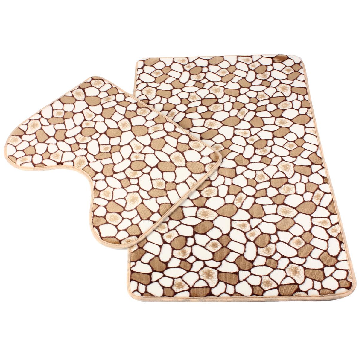 Set de toilette moquette anti d rapant tapis de bain avec for Bain de pieds maison