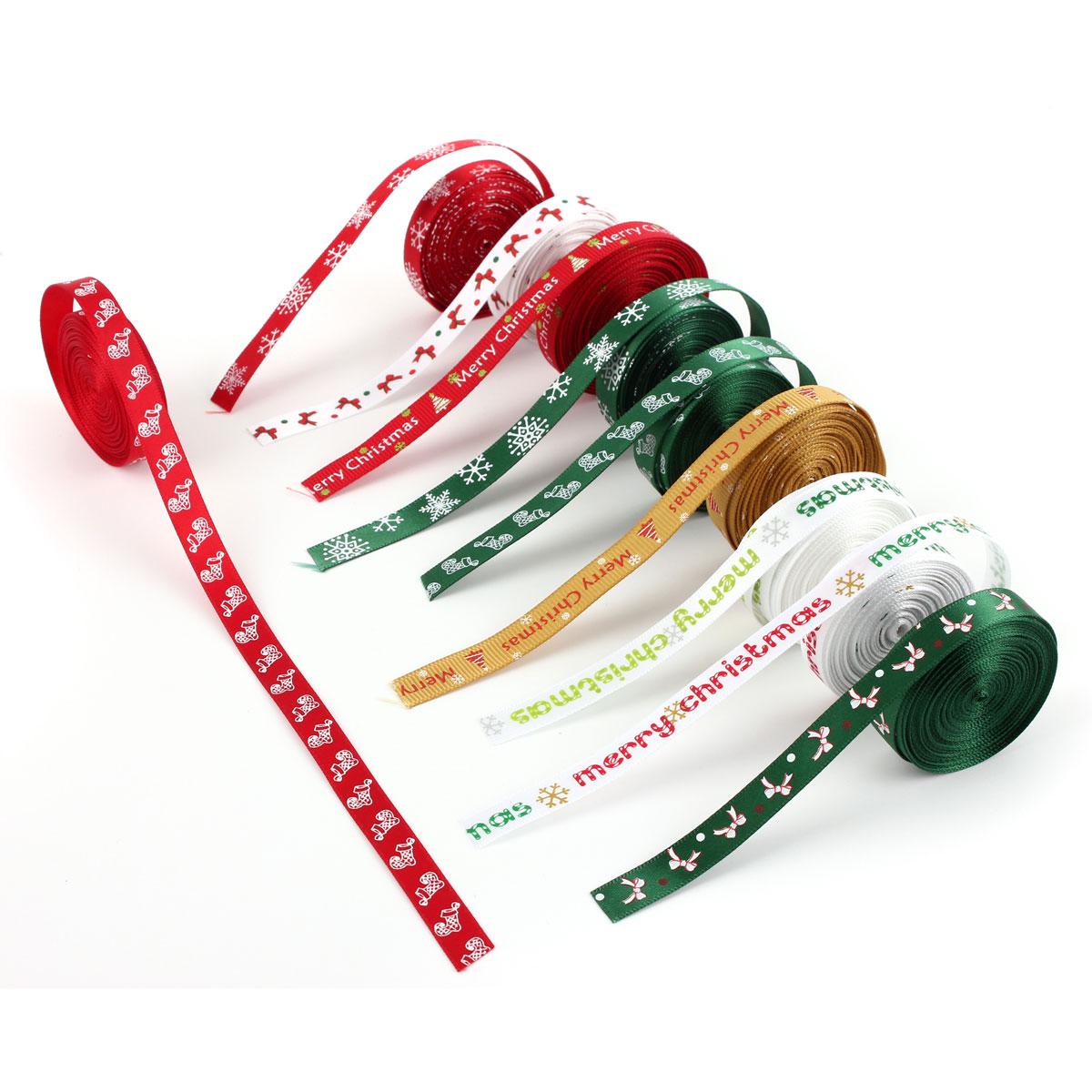 5 yard 10mm satinband weihnachten geschenkband. Black Bedroom Furniture Sets. Home Design Ideas