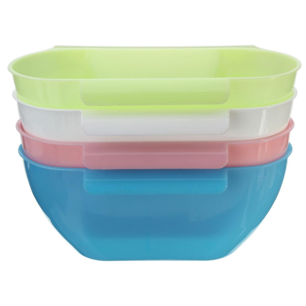 4 Color Kitchen Mini Trash Hang Over Cabinet Waste Basket