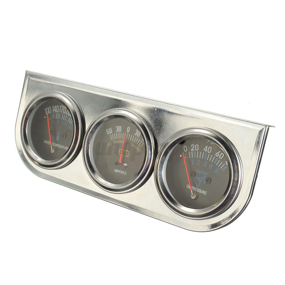 Auto Meter Ammeter : Mechanical auto meter trio ammeter water temp oil