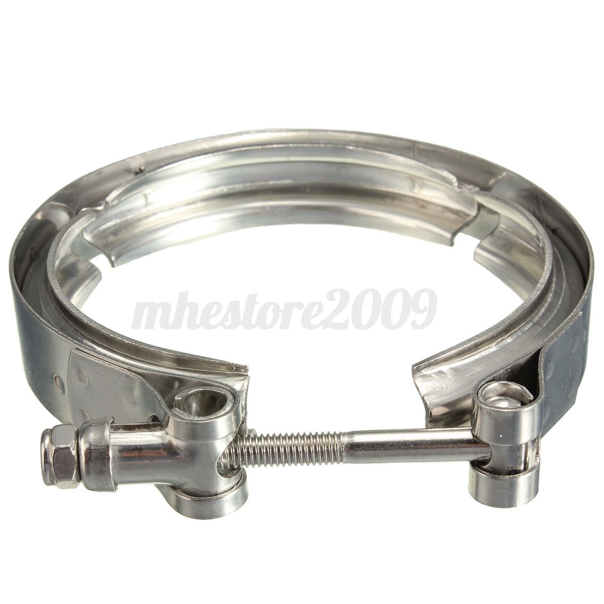 """Turbo Exhaust Ring: Universal 3"""" Inch Stainless Steel V-Band Turbo Downpipe"""